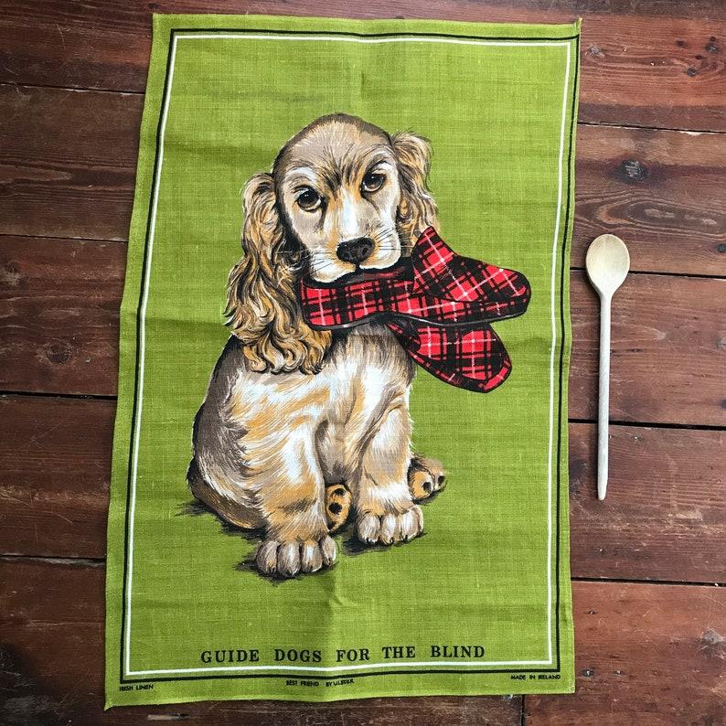 d1e923e033b685 Ulster Irish Linen Tea Towel Spaniel Dog  Best Friend