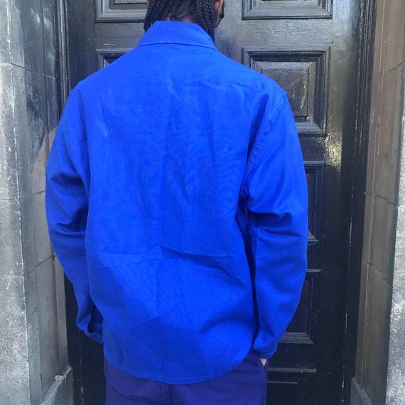 Large Blue French Workwear Jacket - image 8