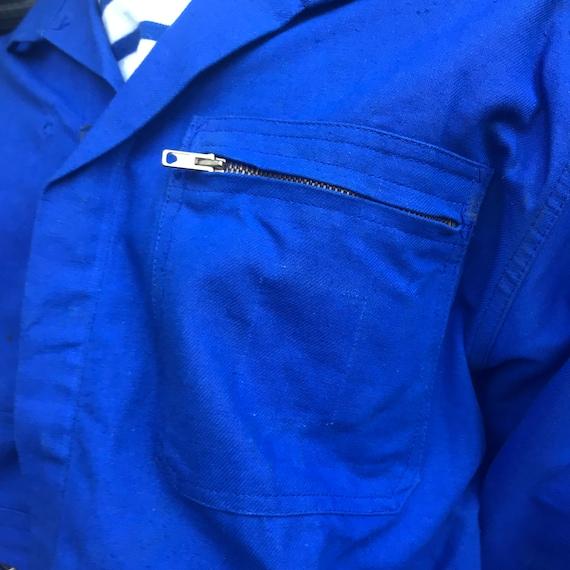 Large French Workwear Jacket. Zip - image 6