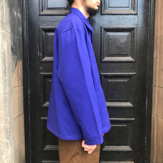 XL Dark Blue French Workwear Telecom Jacket - image 8