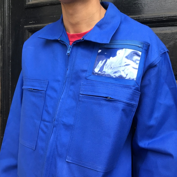 XL Blue French Workwear Jacket. - image 5