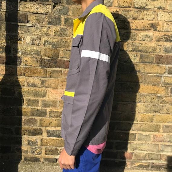 Grey and Yellow Medium French Workwear Jacket - image 6