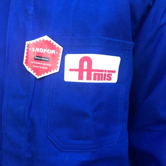 Large Blue French Workwear Jacket - image 5