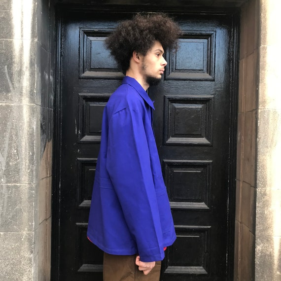 XL Dark Blue French Workwear Telecom Jacket - image 7