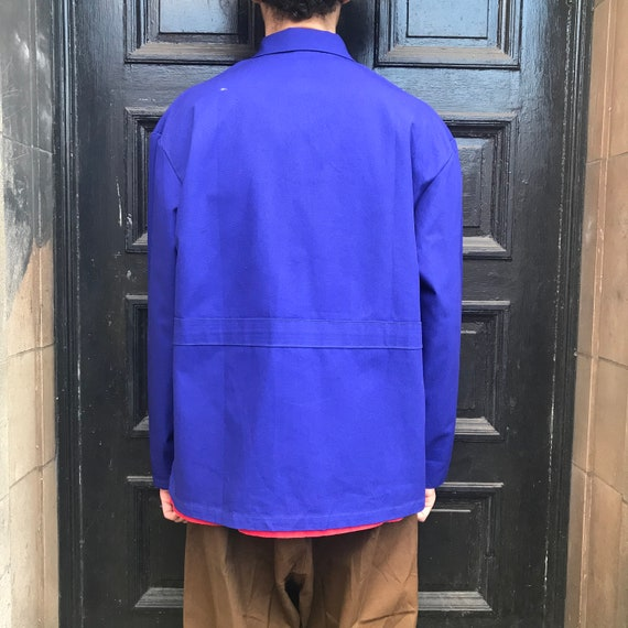 XL Dark Blue French Workwear Telecom Jacket - image 9