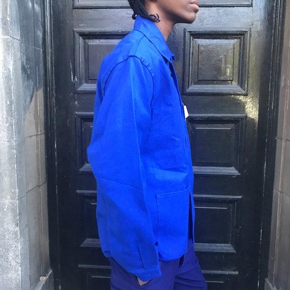 Large Blue French Workwear Jacket - image 7