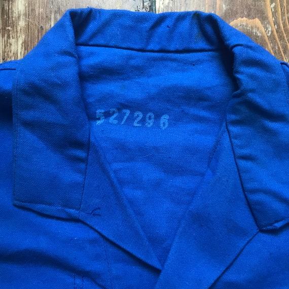 Large French Workwear Jacket. Zip - image 9