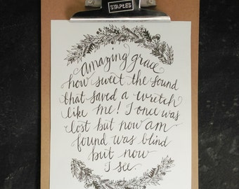 Amazing Grace Print, 8x10 printable, printable gifts for women,