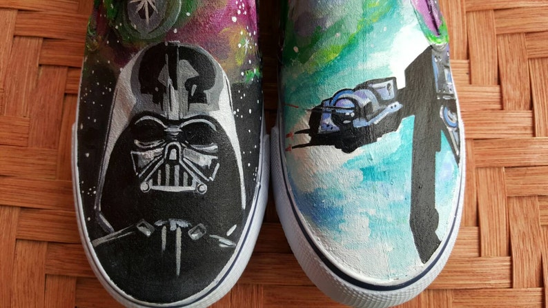 4bb54275fc Custom Star Wars Shoes. Darth Vader Hand painted shoes