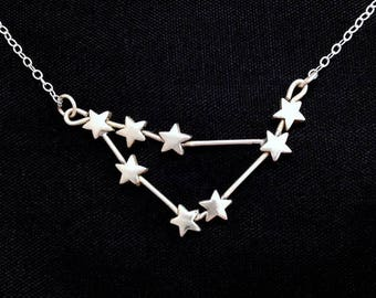 Capricorn Constellation Necklace (Sterling Silver)