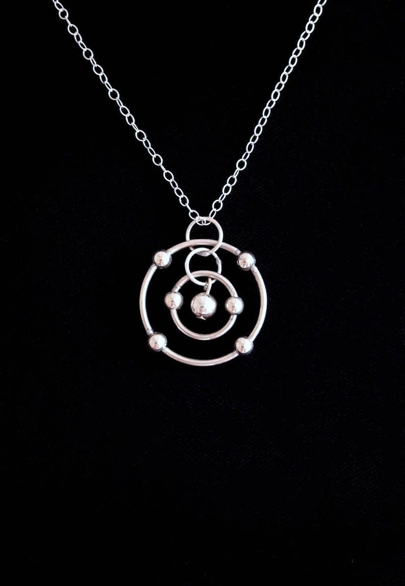 4b33bb58429 Carbon Atom Necklace Sterling Silver