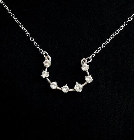 Corona Borealis Constellation Necklace White Topaz And Etsy