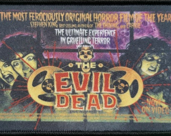 "The Evil Dead 1981, 4.5"" x 3.5"" Sam Rami Classic Horror Movie Patch Bruce Campbell Ash Williams"