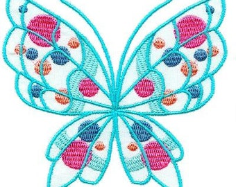 Colorful Butterflies - INSTANT DOWNLOAD - Machine Embroidery - 5x7 hoop
