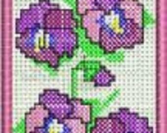 Pansies Bookmarker - INSTANT DOWNLOAD - 5x7 hoop - Machine Embroidery
