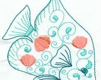 Ocean View - Machine Embroidery - 4x4 hoop - Ocean Animals - Sea Animals