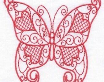 Love Butterflies - INSTANT DOWNLOAD - Machine Embroidery - 4x4 hoop