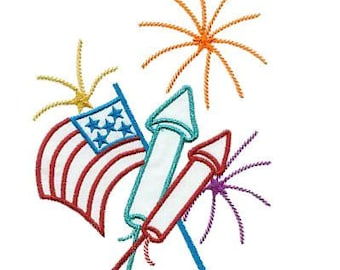 Independence Day - INSTANT DOWNLOAD - Machine Embroidery - 4x4 hoop AND 5x7 hoop