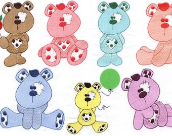 Plushie Bears - INSTANT DOWNLOAD - Machine Embroidery - 4x4 hoop AND 5x7 hoop