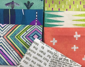 9 piece Bundle of Dreamer, Fat Quarters or 1/2 Yard Cuts, Carrie Bloomston for Windham Fabrics