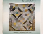 Churn Quilt Pattern Striking Modern Quilt Pattern by Leanne Parsons, Devoted Quilter, Low Volume Fabric, Large and Small Churn Dash Blocks