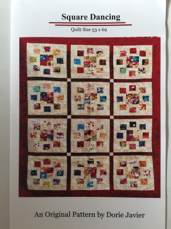 Square Dancing Quilt Pattern Modern Quilt Pattern Design By Etsy