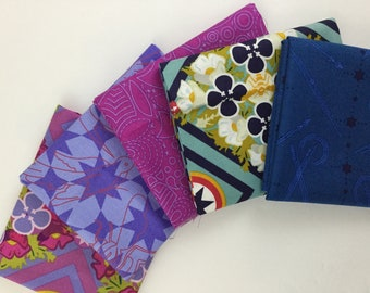 Fat Quarter Bundle, 5 pieces Seventy Six by Alison Glass for Andover Fabric