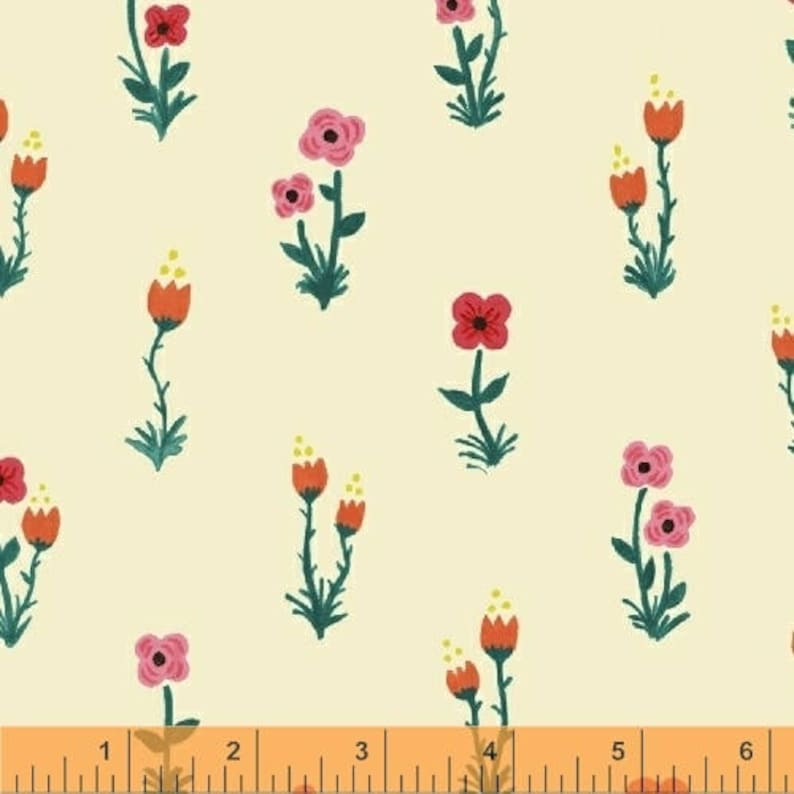 SALE: Folk Fleur Meriwether by Amy Gibson Windham Fabric image 0