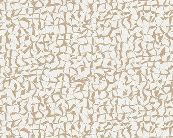 Diaphanous Sand - Gossamer by Sharon Holland for Art Gallery Fabric, Tan White Modern Quilting Fabric, Abstract Print, AGF Cotton
