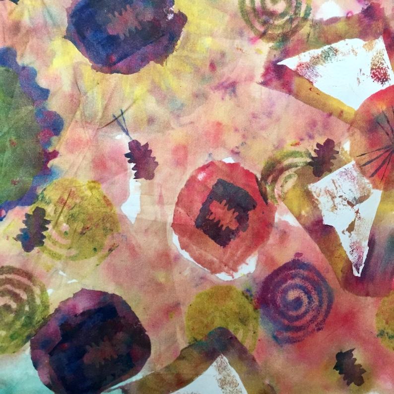 New Life in Multi PWDB007.multi Art Excursion Free Spirit Denise Burkitt Digitally Printed Modern Fabric