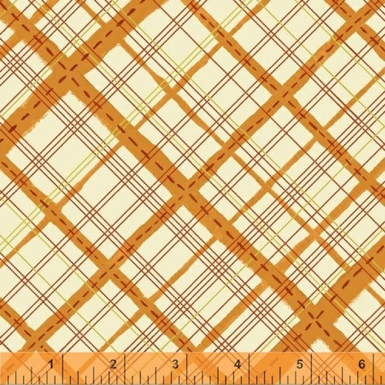 SALE: Homespun in Orange Plaid from Meriwether by Amy Gibson image 0