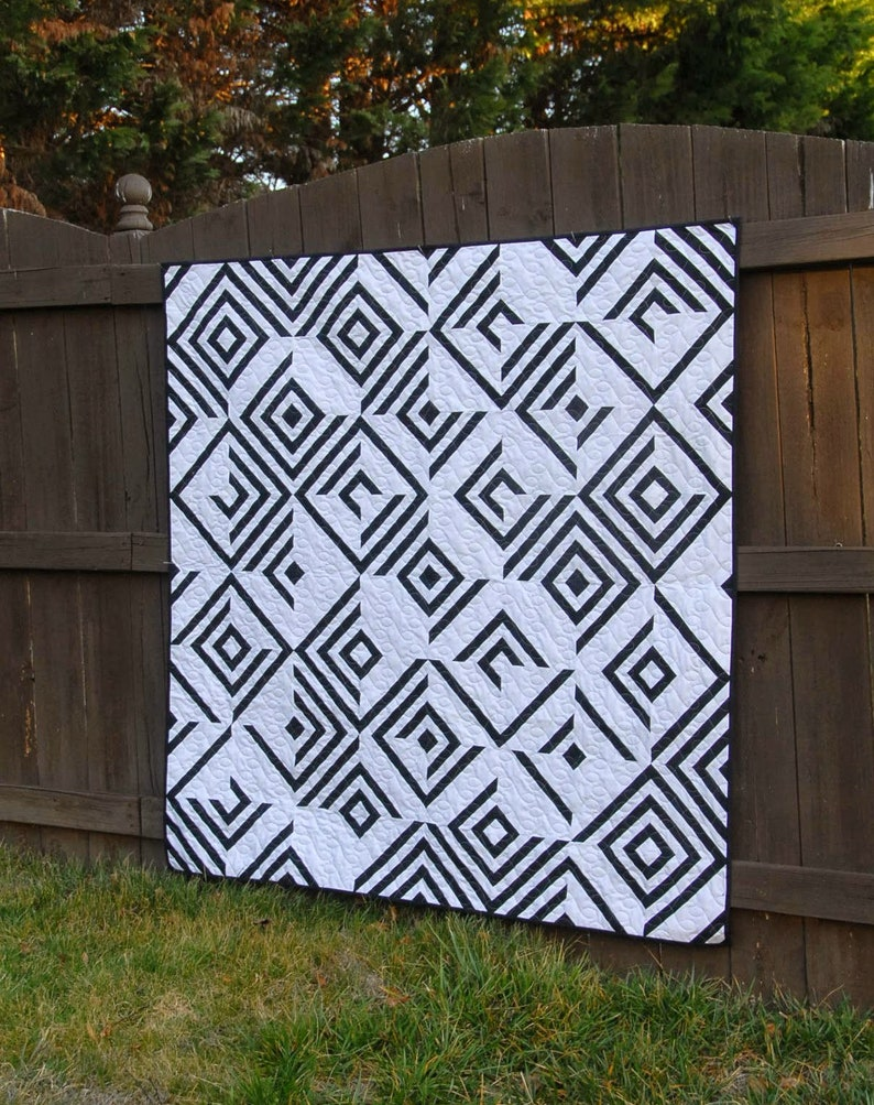 Paper Piecing Free Shipping USA Modern Quilt Design Use Your Illusion Quilt Geometric Design Cheryl Brickey Meadow Mist Designs