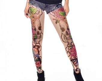 Tattoo leggings | Etsy