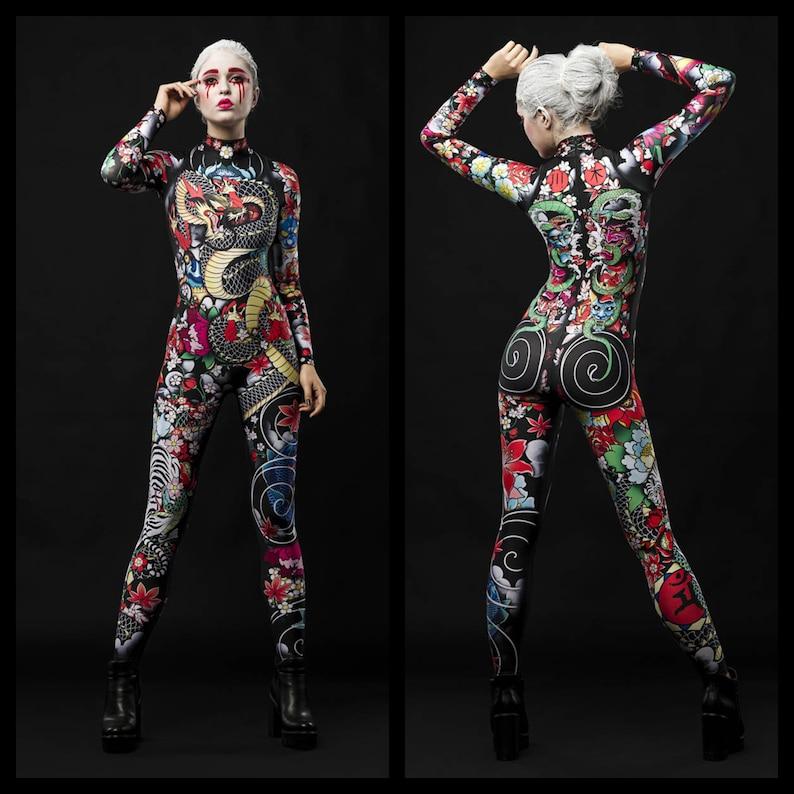 YAKUZA STYLE Halloween Costume Geisha Costume Tattoo  6dee2cf4d