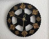 Wall Clock, Scrap Metal Decor, Filigree Time Piece, Repurposed Clock