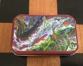 Altered Altoid Tin, Acrylic Pout Painting, Repurposed Tin,