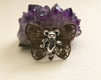 Butterfly Jewelry, Art Nouveau Brooch, Bear Pin