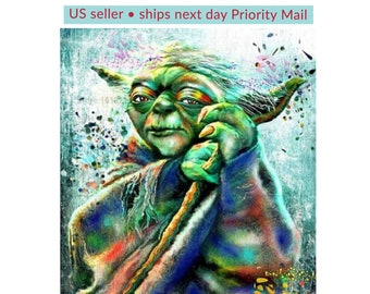 Diamond Painting Kit • Full Drill • Square Drills • Yoda • 16X20 inches • US Seller • Ships Next Day Priority Mail