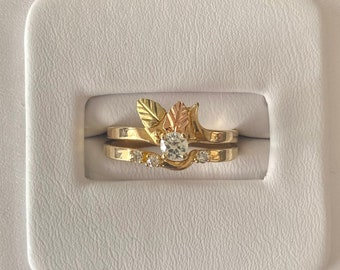 LOVE Letters Ring with Tiny Diamond Accent Vintage Statement Ring Solid 14k Yellow Gold New Old Stock