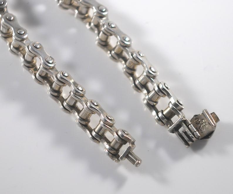 Harley Davidson Bracelet Vintage Heavy Sterling Silver 925 Motorcycle Chain Link Style Unisex Biker