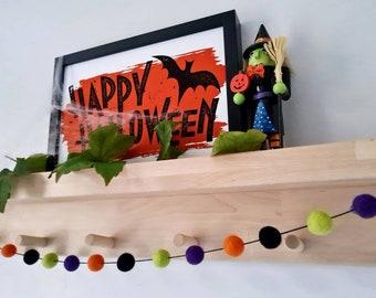 Halloween Pom Pom Garland Decoration