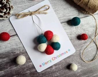 Felt Ball Tree Decoration - Mini Wreath