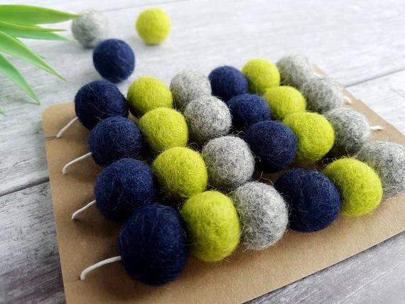 Felt Ball Nursery Decor Lime Pom Pom Garland