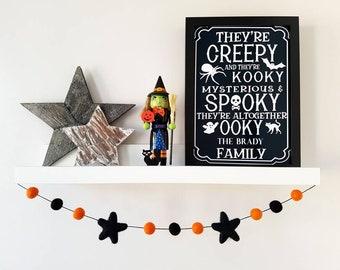 Black and Orange Halloween Garland