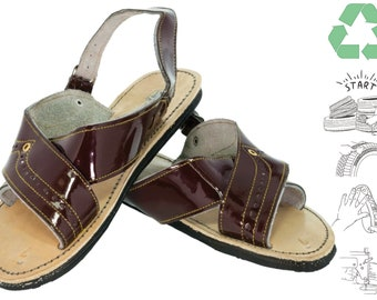 BLUE Womens Ladies Slippers Shoes Sandals Size 3 4 5 6 7 8 Eco Leather KP1