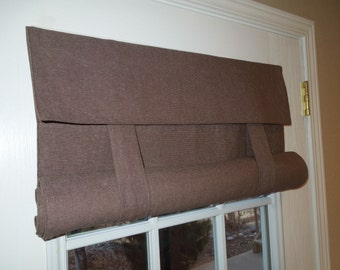 Brown Speckled French Door Curtain
