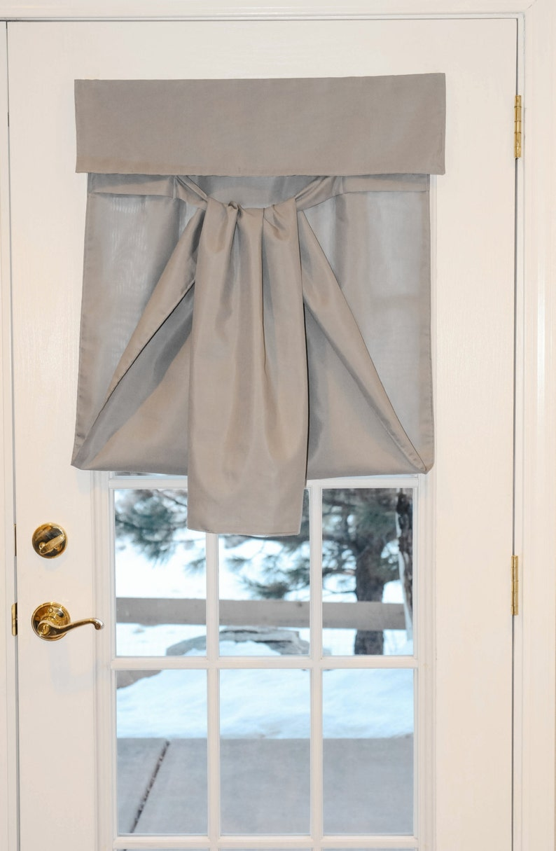 Clearance Light Gray French Door Curtain 30x70 Size No Etsy