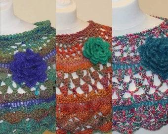 Crochet PATTERN, Crochet poncho Pattern, Crochet Collar, Boho poncho PDF Instant Download