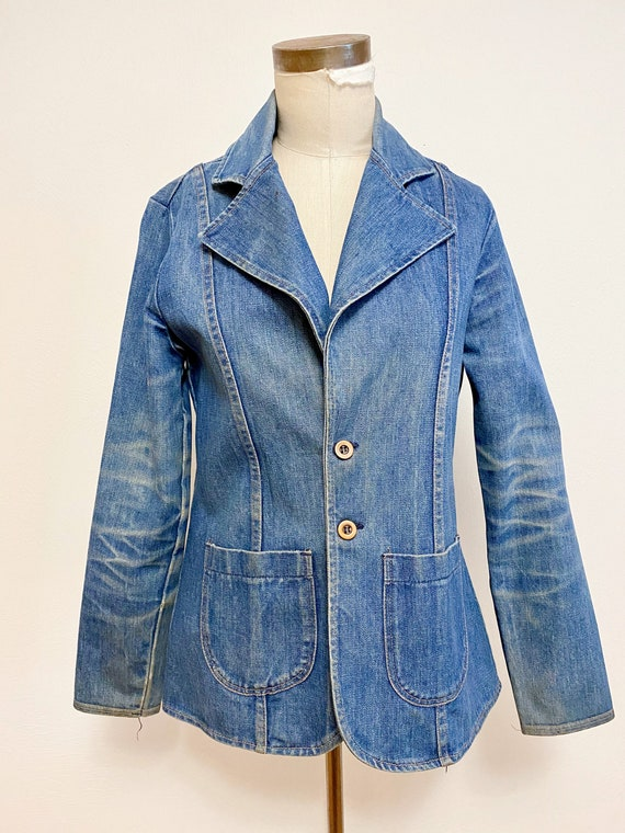1970s Wrangler Denim Blazer Jacket