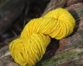 Hand dyed hand spun wool yarn 46 yd